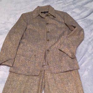 Vintage Anne Kline Wool Pant Suit- Size 8